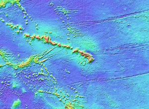 Seafloor topography around the Hawaiian Hotspot (from NCDC)