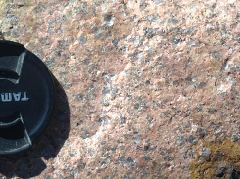 Beautiful, pink granite at Elephant Rocks State Park.
