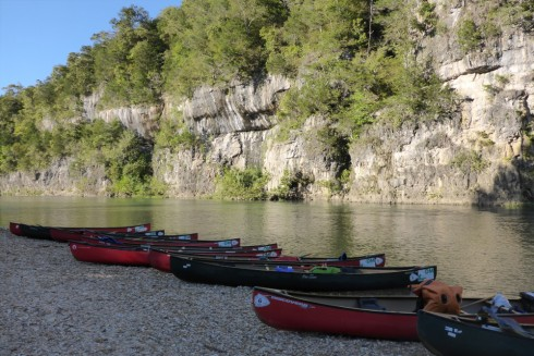 Limestone bluffs along the Current River.