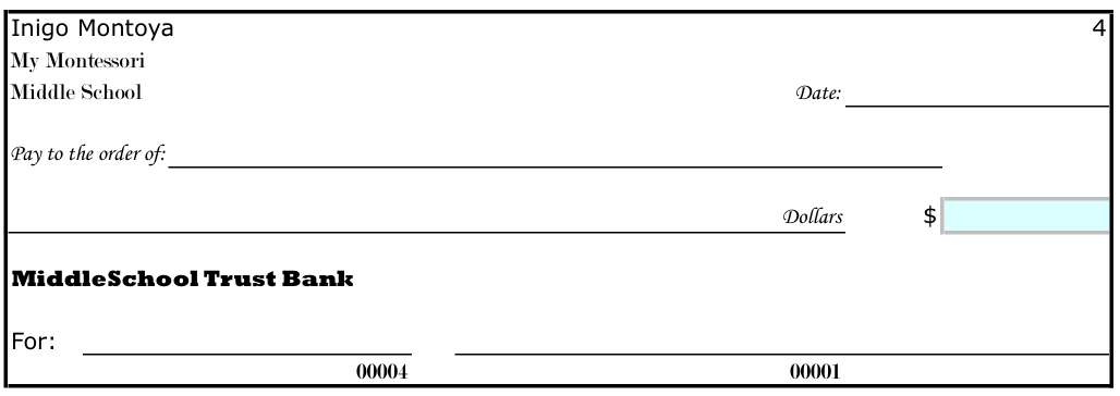 excel checkbook template