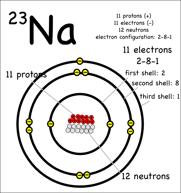 Drawing atoms montessori muddle example sodium 23 urtaz Image collections